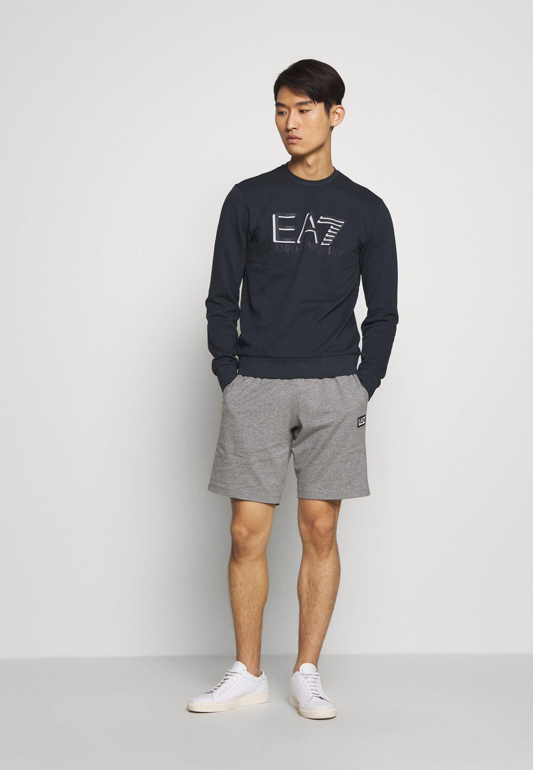 EA7 Emporio Armani BERMUDA - Pantaloni sportivi - medium grey melange