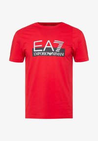 EA7 Emporio Armani - T-shirts med print - red - 3