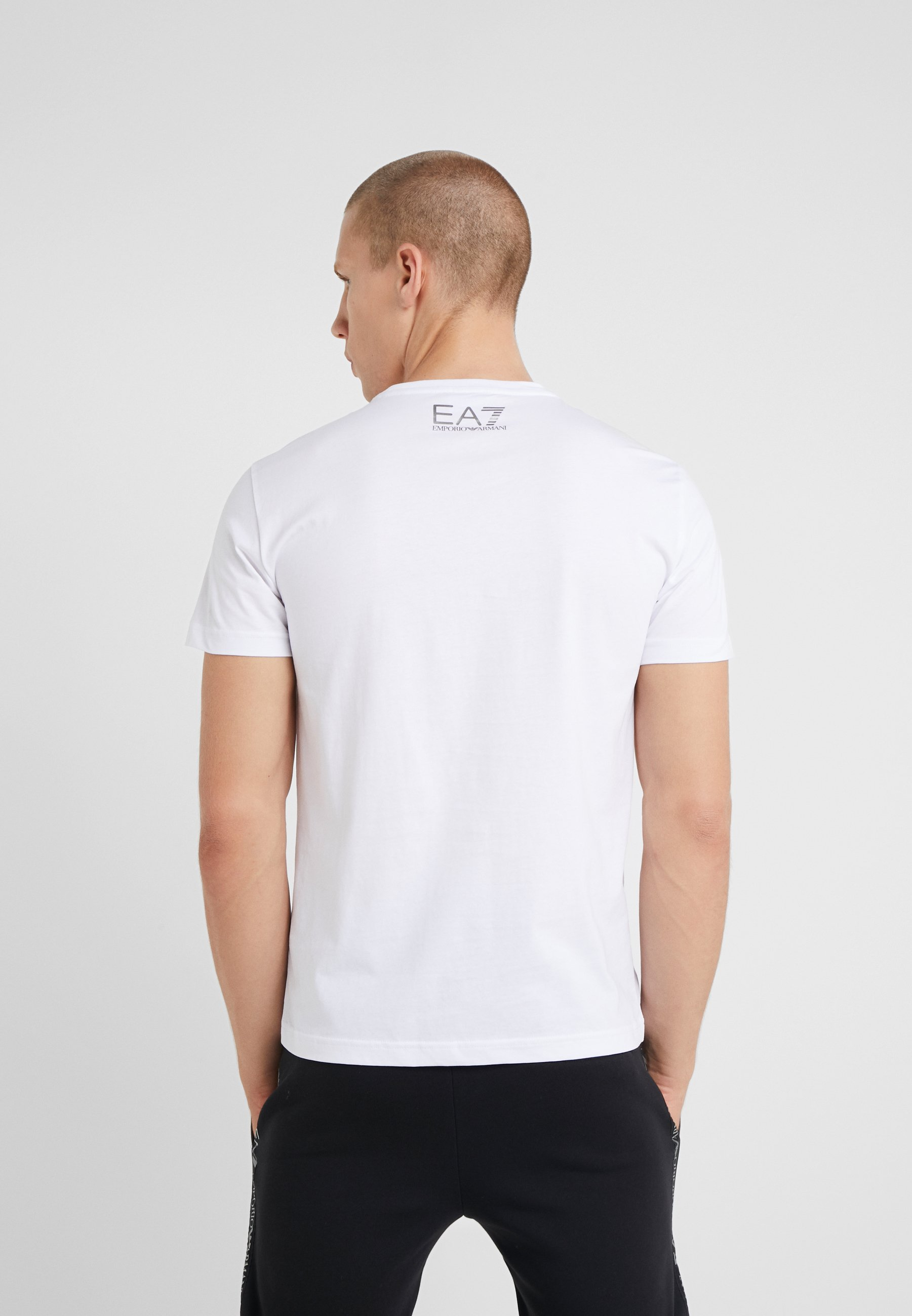 T shirt Armani Emporio Ea7 ImpriméWhite MqUpVGSz