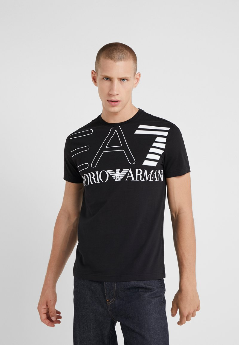 EA7 Emporio Armani - T-shirt med print - black