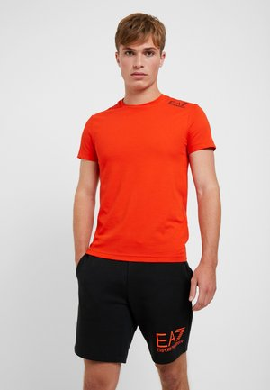 T-shirt imprimé - neon / orange / black