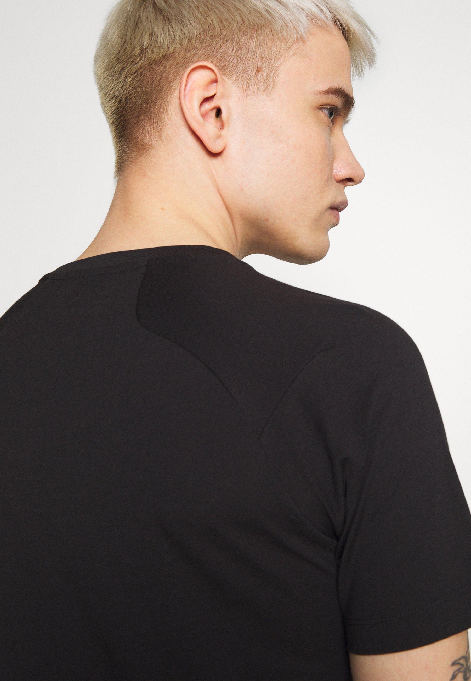 EA7 Emporio Armani T-shirt z nadrukiem - black