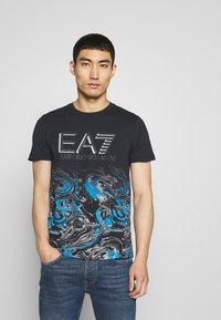 EA7 Emporio Armani - T-shirt print - fancy blue - 0
