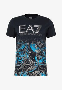 EA7 Emporio Armani - T-shirt print - fancy blue - 3