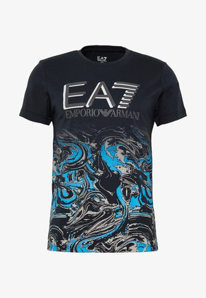 Print T-shirt - fancy blue