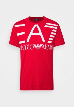 T-shirt z nadrukiem - racing red