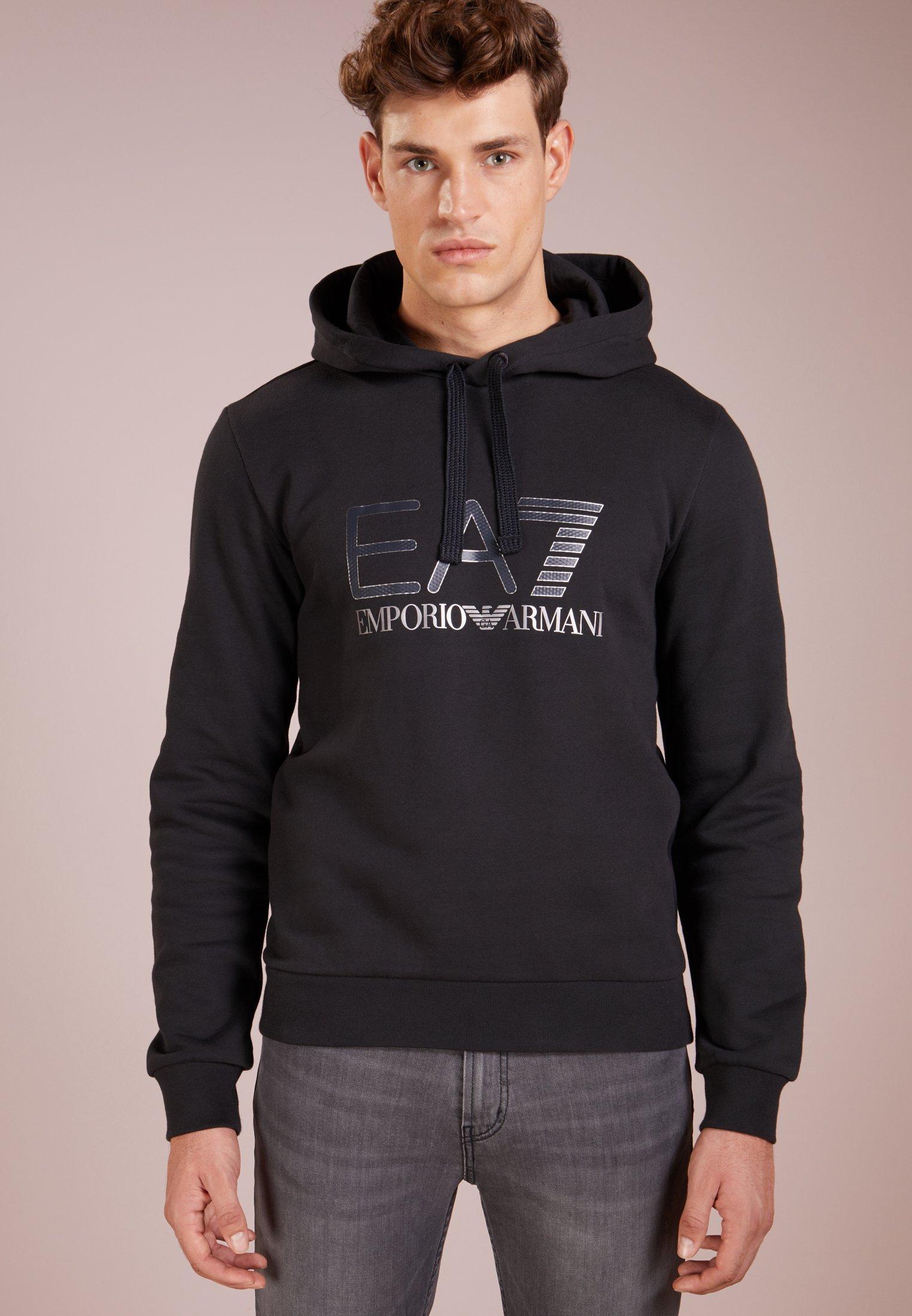 EA7 Emporio Armani Bluza z kapturem - black