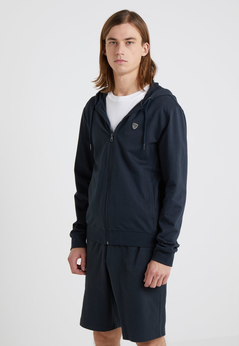 EA7 Emporio Armani - Zip-up hoodie - dark blue