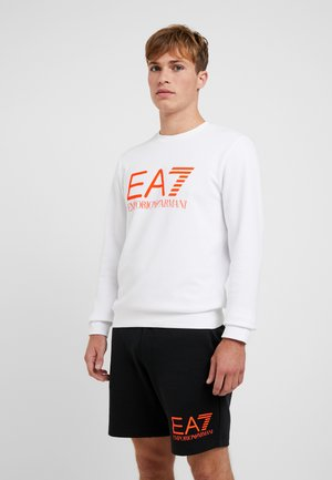 Sweatshirt - white/neon/orange