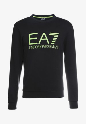 Sweatshirt - black / neon / yellow