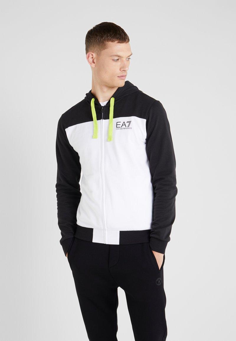 EA7 Emporio Armani - Hoodie met rits - black