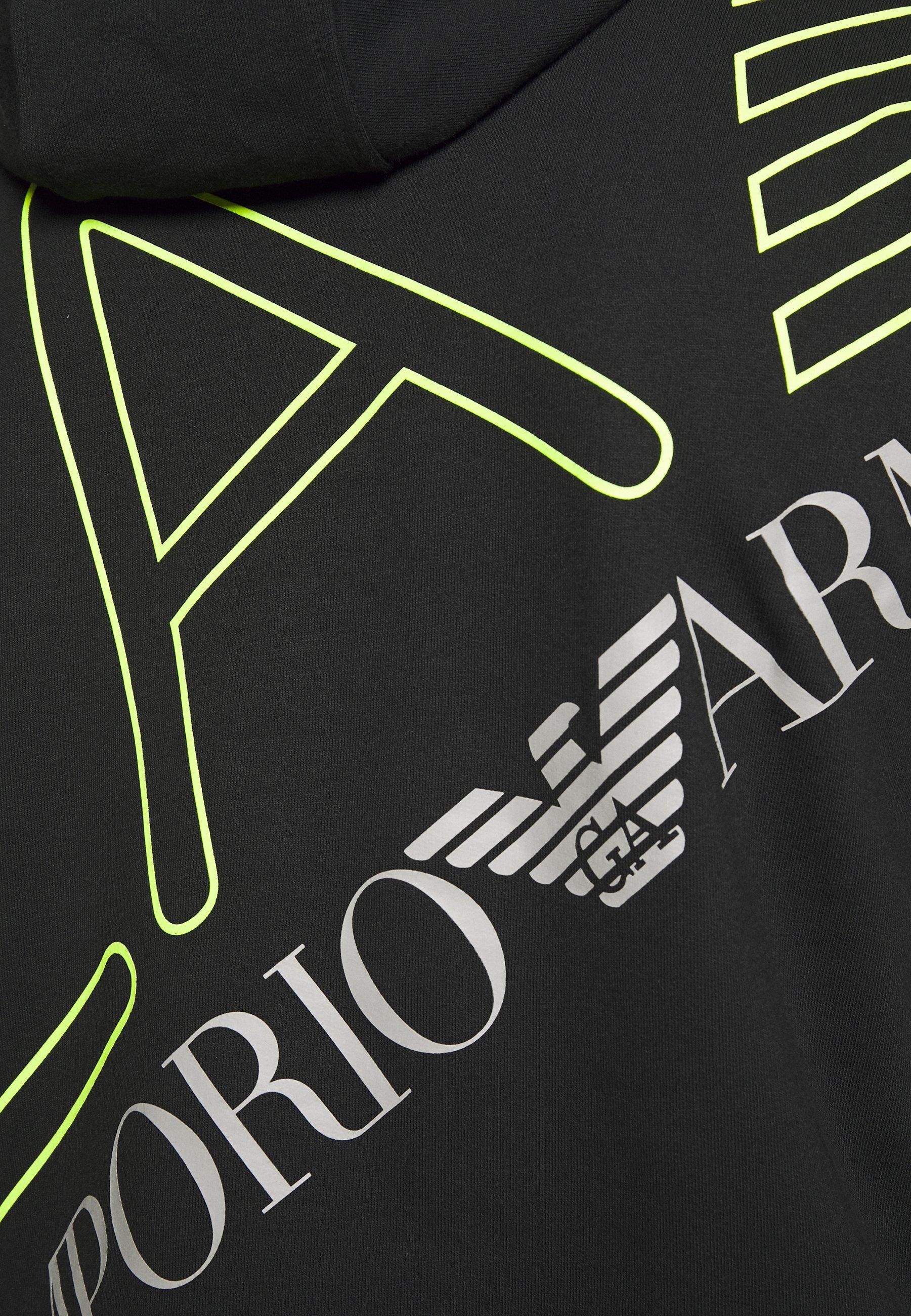 EA7 Emporio Armani FELPA - Bluza z kapturem - black