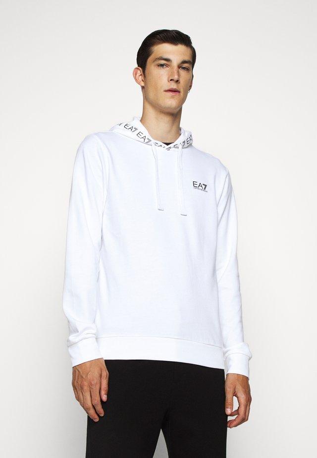 HOODIE COLLAR LOGO COFT - Jersey con capucha - white