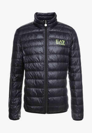 Gewatteerde jas - black / neon / yellow