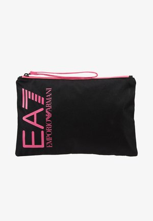 CLUTCH BAG NEON - Pikkulaukku - black / neon pink