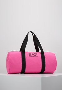 EA7 Emporio Armani - GYM BAG NEON - Bolsa de deporte - neon pink / black - 0