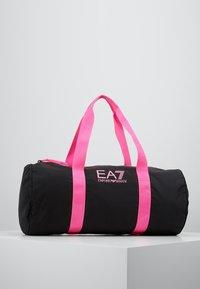 EA7 Emporio Armani - GYM BAG NEON - Sporttas - black / neon pink - 0