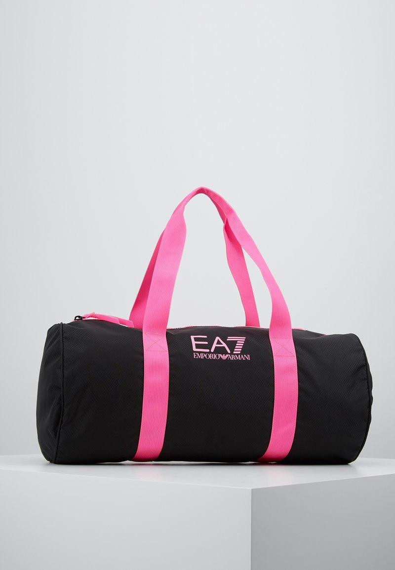 EA7 Emporio Armani - GYM BAG NEON - Sporttas - black / neon pink