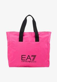 EA7 Emporio Armani - SHOPPER NEON - Torba na zakupy - neon pink / black - 5