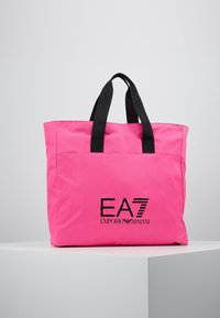 EA7 Emporio Armani - SHOPPER NEON - Torba na zakupy - neon pink / black - 0