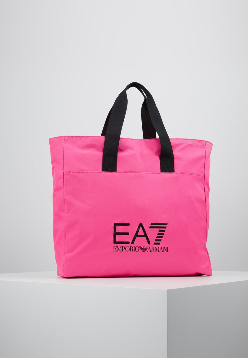 EA7 Emporio Armani - SHOPPER NEON - Torba na zakupy - neon pink / black