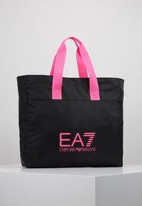 EA7 Emporio Armani - SHOPPER NEON - Tote bag - black / neon pink - 0