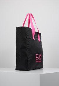 EA7 Emporio Armani - SHOPPER NEON - Tote bag - black / neon pink - 3