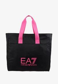 EA7 Emporio Armani - SHOPPER NEON - Tote bag - black / neon pink - 5