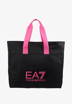 SHOPPER NEON - Shopping bag - black / neon pink