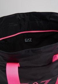 EA7 Emporio Armani - SHOPPER NEON - Tote bag - black / neon pink - 4