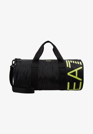 Weekend bag - black/yellow fluo