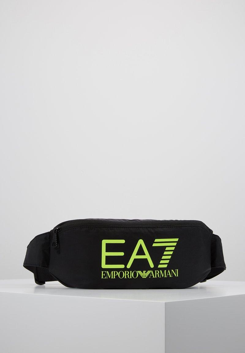 EA7 Emporio Armani - Sac banane - black / neon / yellow