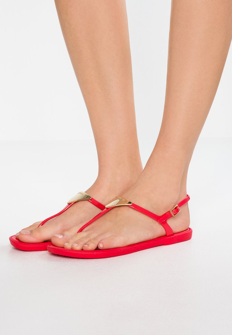 Emporio Armani - Pool shoes - coral red