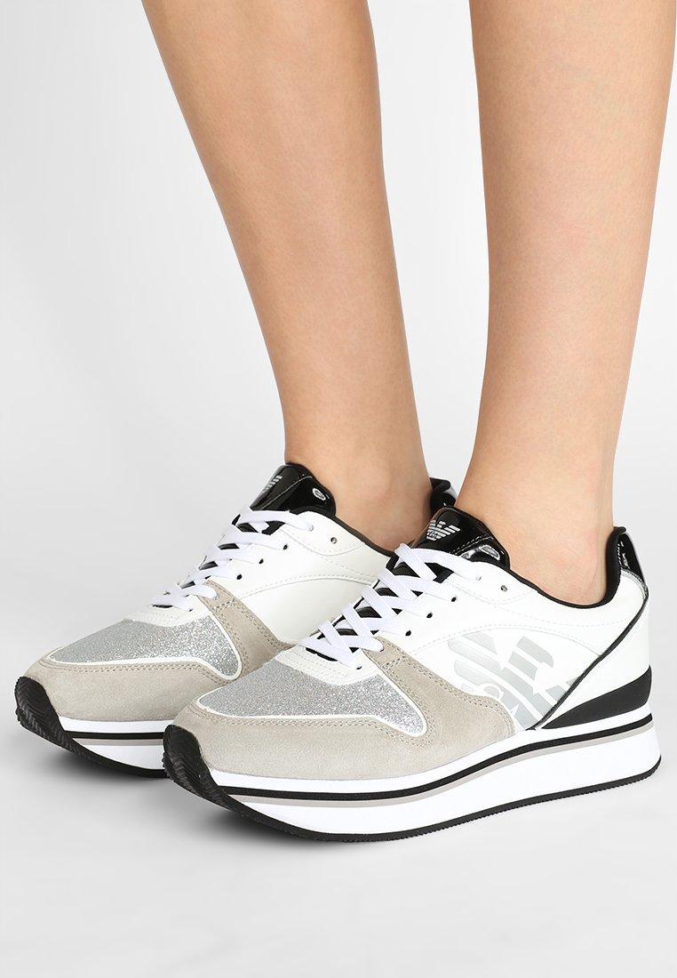 Emporio Armani - CHRISTINA - Trainers - platin/white/silver/black
