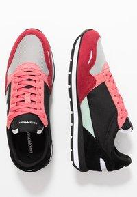 Emporio Armani - ALLY - Trainers - spicy red/straw/black - 3