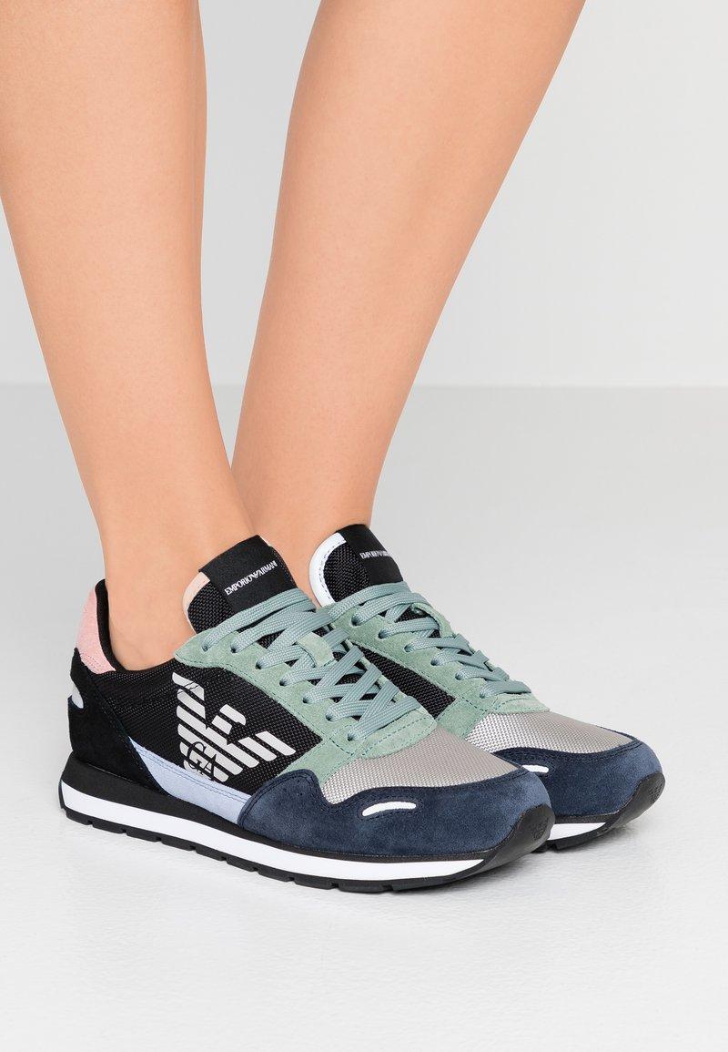 Emporio Armani - ALLY - Sneaker low - blu zen/dark green/green
