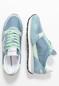 Emporio Armani - ALLY - Sneakers - sky/mint/silver - 3