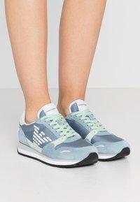Emporio Armani - ALLY - Sneakers - sky/mint/silver - 0