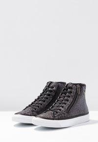 Emporio Armani - VENUS - High-top trainers - black/silver - 4