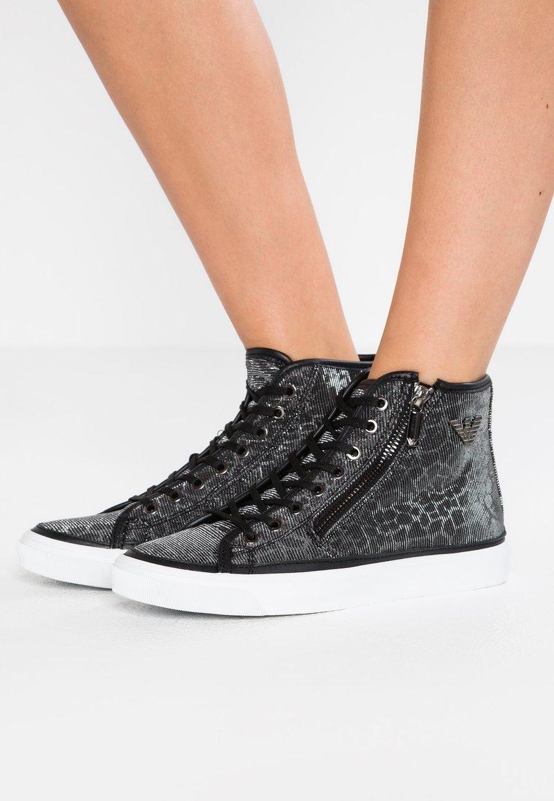 Emporio Armani - VENUS - Sneaker high - black/silver