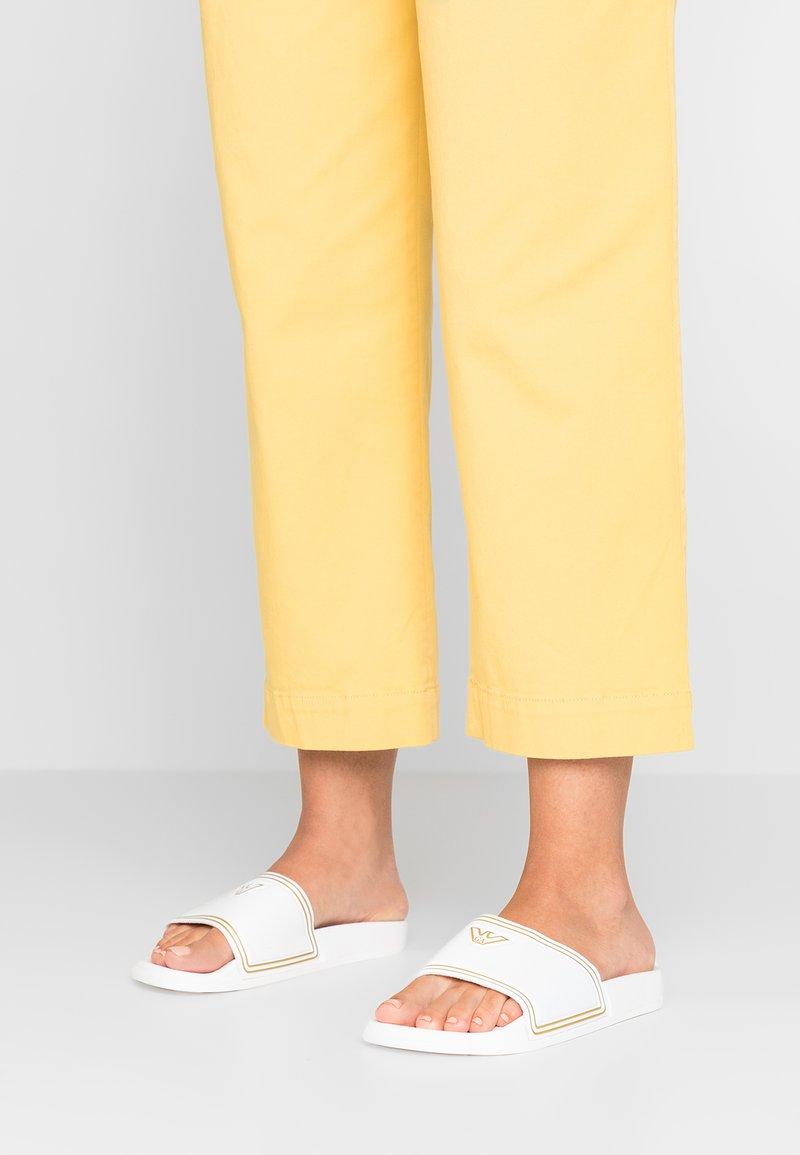 Emporio Armani - Pantolette flach - white/gold