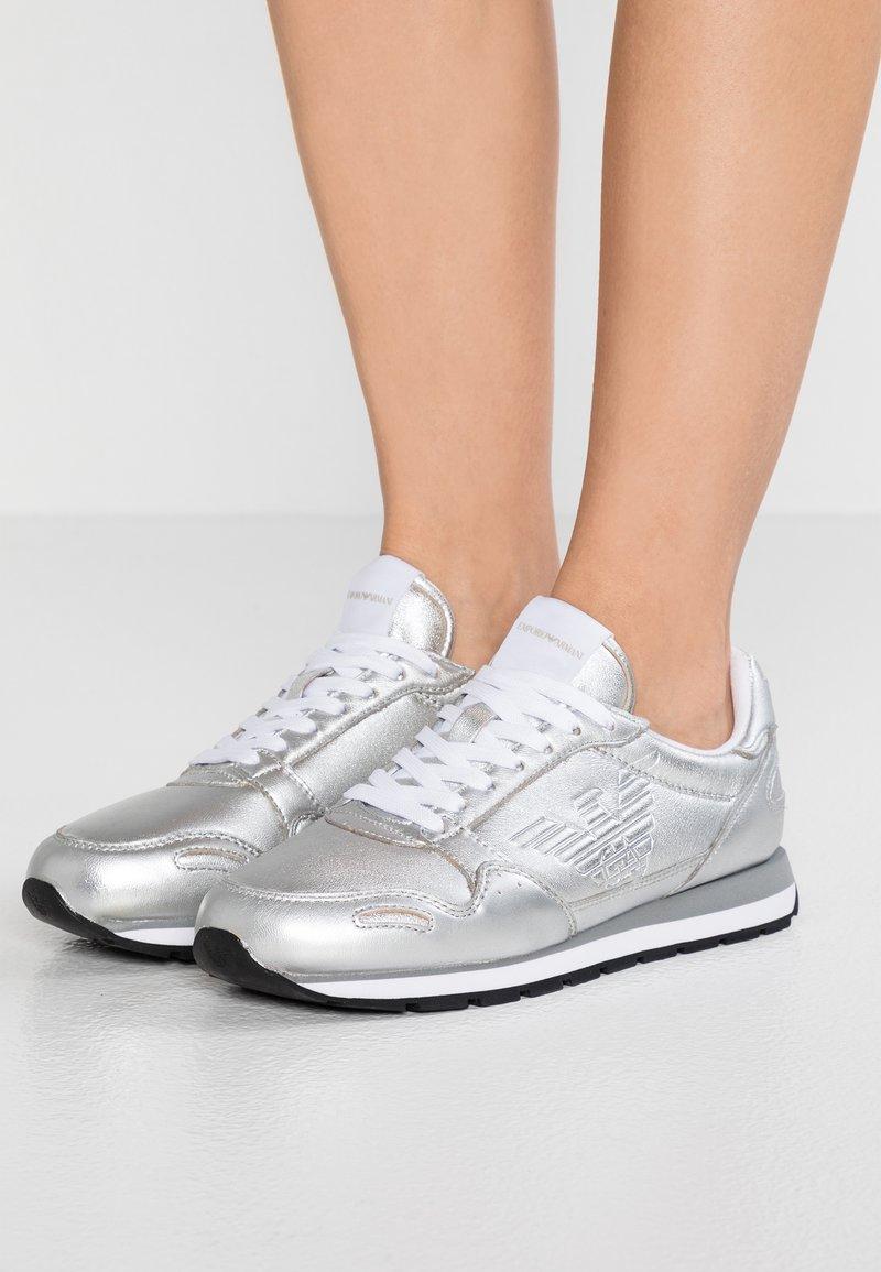 Emporio Armani - Trainers - silver