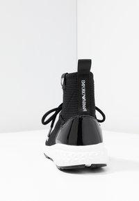 Emporio Armani - High-top trainers - black - 5