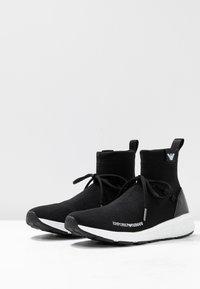 Emporio Armani - High-top trainers - black - 4
