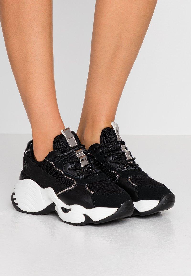 Emporio Armani - CREW - Sneakers laag - black/gunmetal