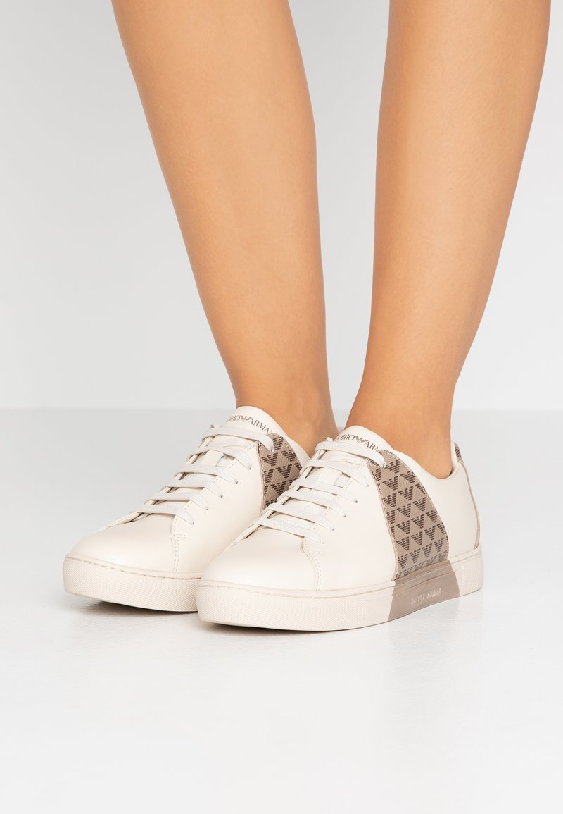 Emporio Armani - ALYSIA - Trainers - cream/brown/taupe