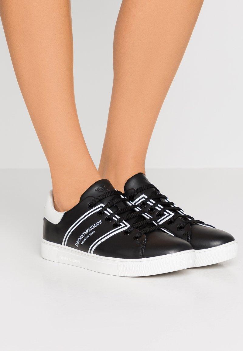 Emporio Armani - BELLA - Sneaker low - black/white