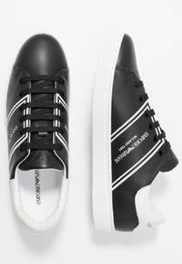 Emporio Armani - BELLA - Sneakers laag - black/white - 3
