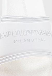 Emporio Armani - SLIDES - Pantofle - white - 2