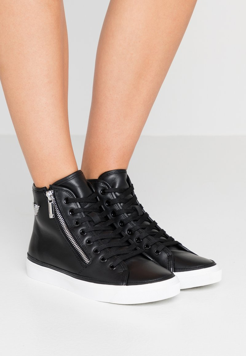 Emporio Armani - High-top trainers - black